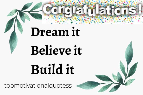 Dream congrats